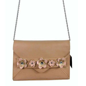 INC CONCEPTS Tan Leather Cross-Body Bag $89.00